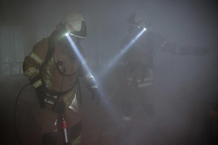 Feuerwehreinsatz Übung