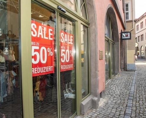 Laden-Aktion in Naumburg zu Corona